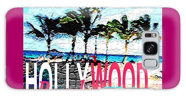 Hollywood Beach Fla Poster Galaxy Case by Dick Sauer