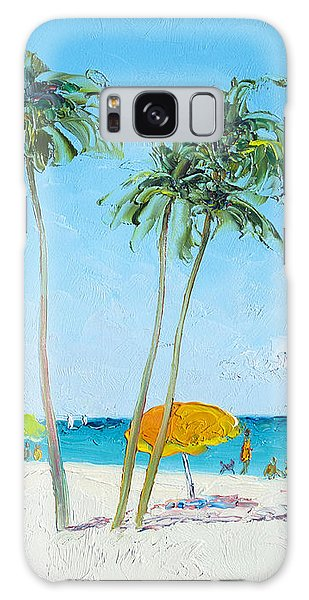 Hollywood Beach Florida And Coconut Palms Galaxy Case
