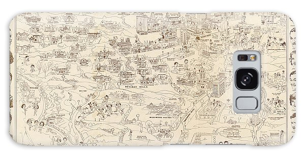 Hollywood Map To The Stars 1937 Galaxy Case