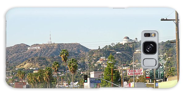 Hollywood Sign Above Sunset Blvd. Galaxy Case