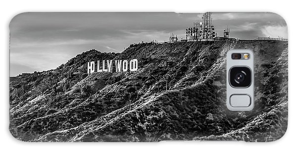 Hollywood Sign - Black And White Galaxy Case