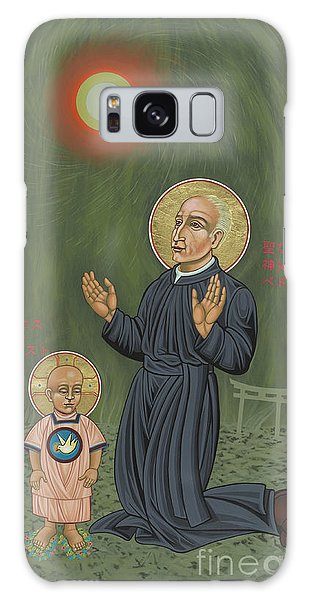 Holy Father Pedro Arrupe, Sj In Hiroshima With The Christ Child 293 Galaxy Case