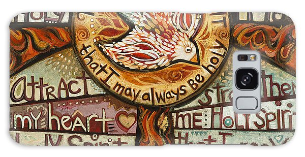 Holy Spirit Prayer By St. Augustine Galaxy Case