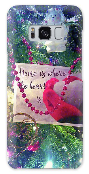 Home Is Where The Heart Is Galaxy Case by Toni Hopper
