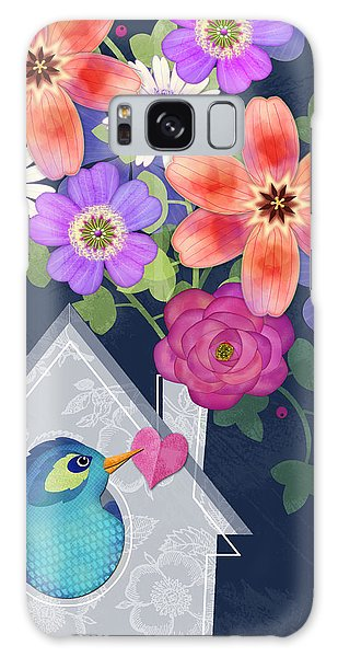 Home Is Where You Bloom Galaxy Case