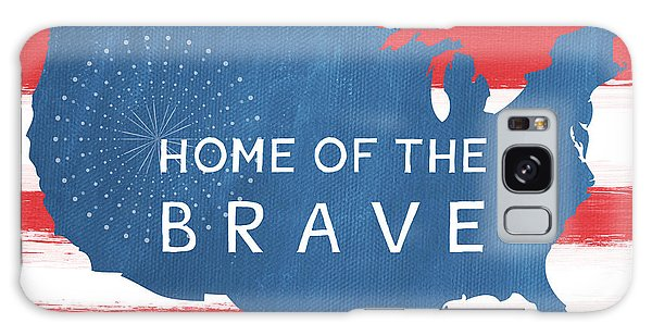 Patriotic Galaxy Case - Home Of The Brave by Linda Woods