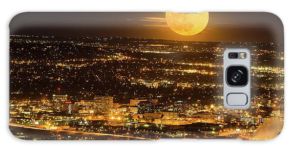 Home Sweet Hometown Bathed In The Glow Of The Super Moon  Galaxy Case