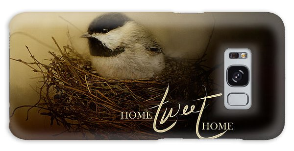 Home Tweet Home With Words Galaxy Case