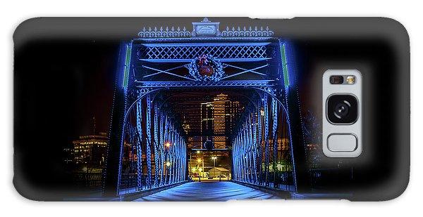 Homeless Winter Night On Wells Street Bridge - Fort Wayne Indiana Galaxy Case