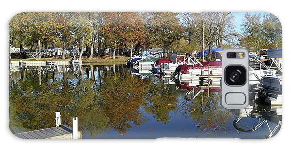 Hometown Marina In Autumn Galaxy Case