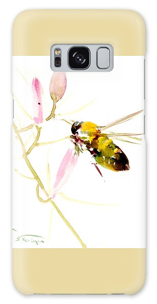 Honey Bee And Pink Flower Galaxy Case