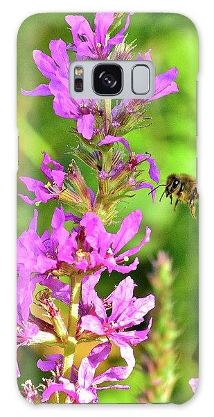 Honey Bee In Flight Galaxy Case