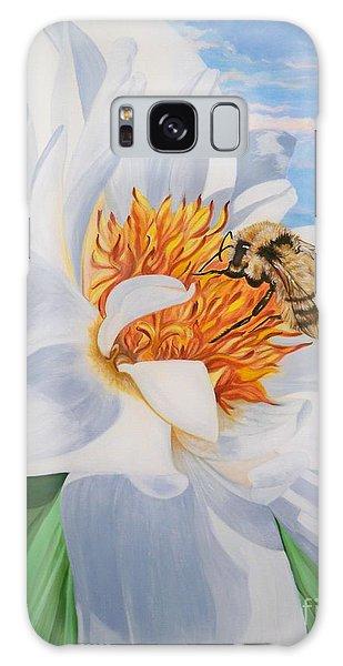 Flygende Lammet Productions     Honey Bee On White Flower Galaxy Case