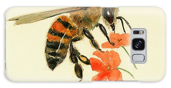 Honey Bee Watercolor Painting Galaxy Case