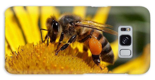 Honeybee At Work Galaxy Case by Rona Black