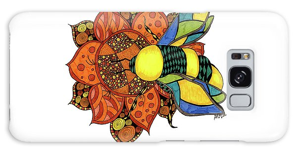 Honeybee On A Flower Galaxy Case