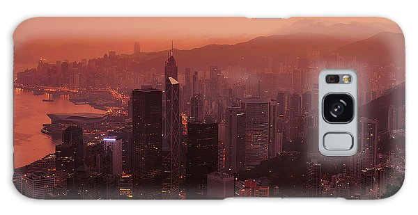 Hong Kong City View From Victoria Peak Galaxy Case