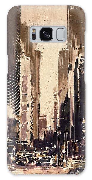 Hong-kong Cityscape Painting Galaxy Case