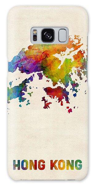 Hong Kong Watercolor Map Galaxy Case