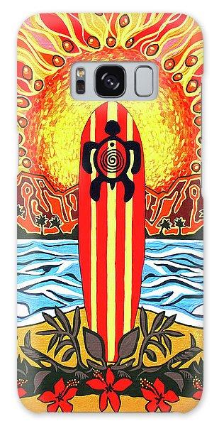 Honu Surf Galaxy Case by Debbie Chamberlin