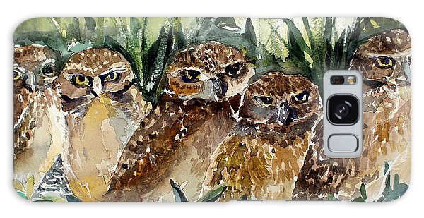 Hoo Is Looking At Me? Galaxy Case by Mindy Newman