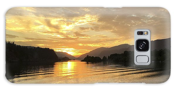 Hood River Golden Sunset Galaxy Case