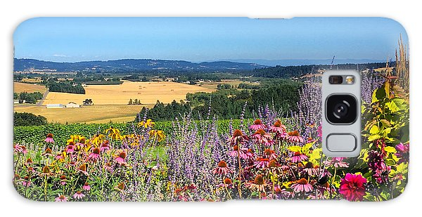 Hood River Valley Flowers Galaxy Case