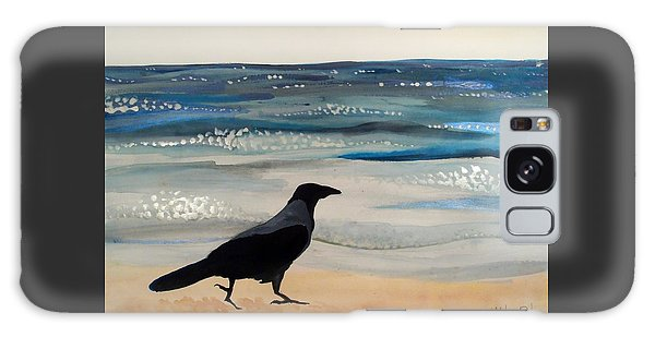 Hooded Crow At The Black Sea By Dora Hathazi Mendes Galaxy Case by Dora Hathazi Mendes