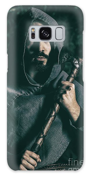 Cosplay Galaxy Case - Hooded Man With Axe by Amanda Elwell