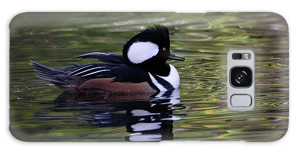 Hooded Merganser Duck Galaxy Case by Keith Boone