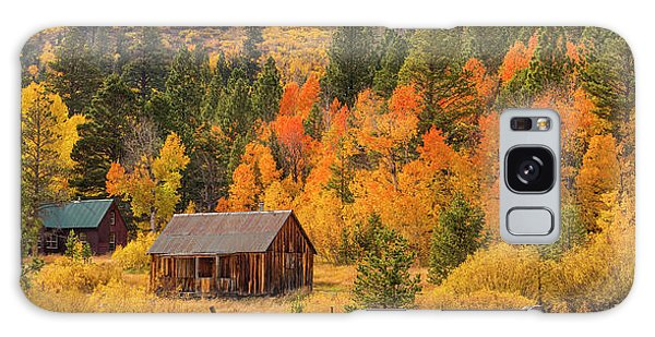 Hope Valley Fall Cabin By Brad Scott Galaxy Case