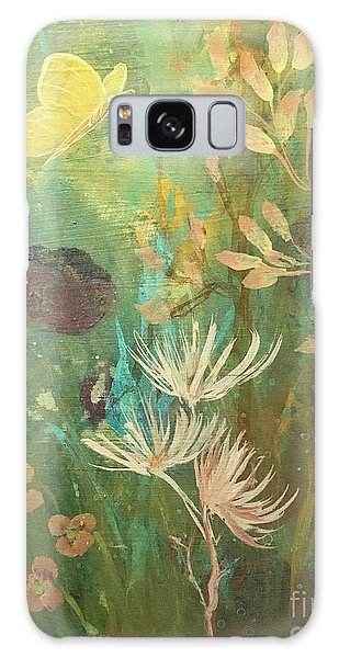 Galaxy Case featuring the painting Hopeful Golden Wings by Robin Maria Pedrero