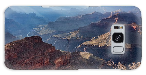 Galaxy Case featuring the photograph Hopi Point Sun Rays by Beverly Parks