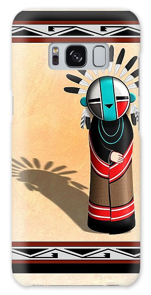 Hopi Sun Face Kachina Galaxy Case