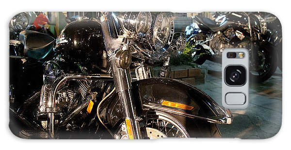 Horizontal Front View Of Fat Cruiser Motorcycle With Chrome Fork Galaxy Case
