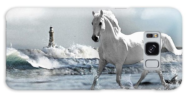 Horse At Roker Pier Galaxy Case