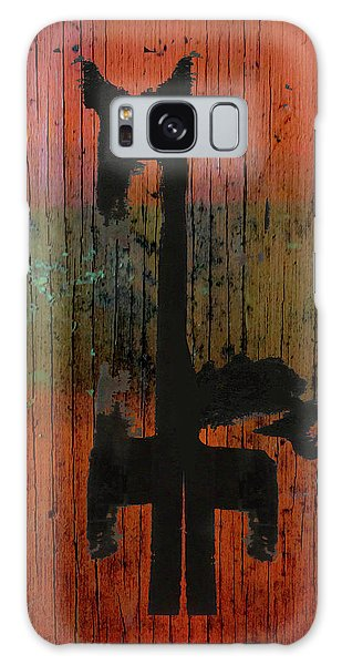 Horse And Barn Abstract  Galaxy Case