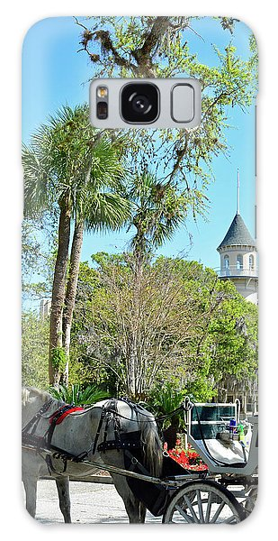 Horse And Carriage At Jekyll Island Club Hotel Galaxy Case by Bruce Gourley