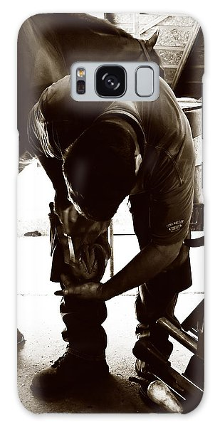 Horse And Farrier Galaxy Case by Angela Rath