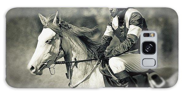 Horse And Jockey Galaxy Case