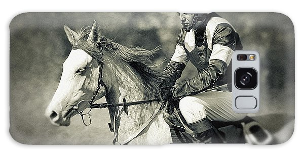 Horse And Jockey Galaxy Case