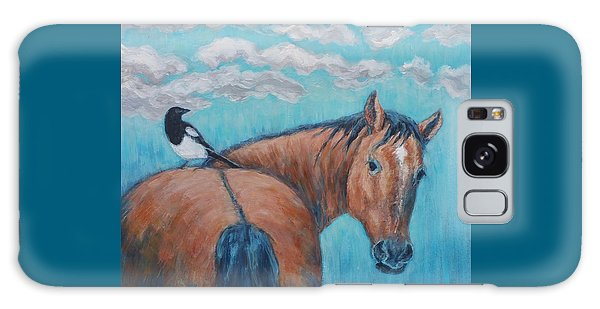 Horse And Magpie Galaxy Case