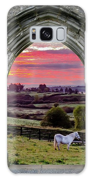 Galaxy Case featuring the photograph Horse At Sunrise In County Clare by James Truett