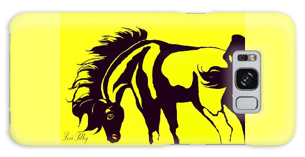 Horse-black And Yellow Galaxy Case