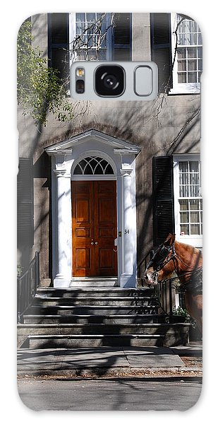 Horse Carriage In Charleston Galaxy Case by Susanne Van Hulst