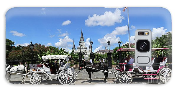 Horse Carriages Galaxy Case