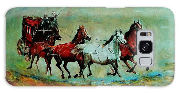 Horse Chariot Galaxy Case by Khalid Saeed