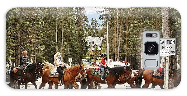 Galaxy Case featuring the photograph Horse Crossing by Al Fritz
