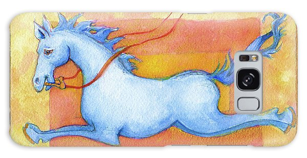 Horse Detail From H Medieval Alphabet Print Galaxy Case