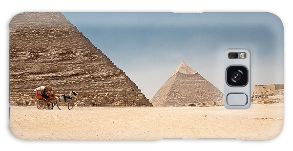 Galaxy Case - Horse Dragging Cart In Front Of The Giza Pyramids by Iordanis Pallikaras